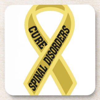 Cure Spinal Disorders Beverage Coaster