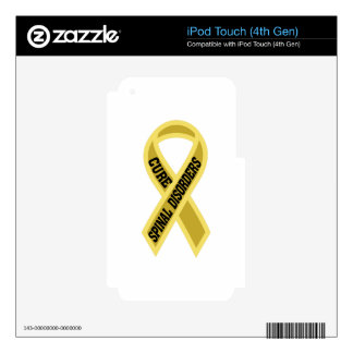 Cure Spinal Disorders Decal For iPod Touch 4G