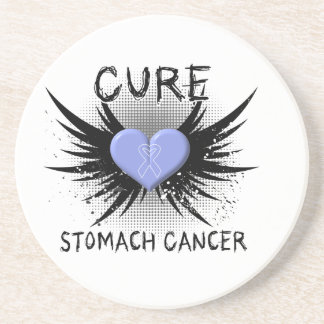 Cure Stomach Cancer Beverage Coaster