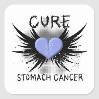 Cure Stomach Cancer Square Stickers