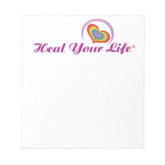 Cure su libreta de la vida blocs de papel