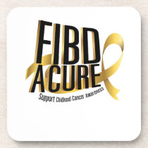 Cure Support Childhood Cancer Awareness Beverage Coaster