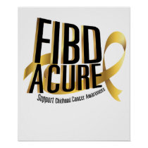 Cure Support Childhood Cancer Awareness Poster