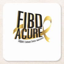 Cure Support Childhood Cancer Awareness Square Paper Coaster