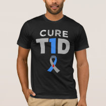 Cure T1D Type 1 Diabetes Awareness Men's T-shirt