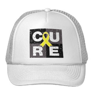 CURE Testicular Cancer  Distressed Cube Trucker Hat