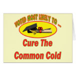 Cure The Common Cold Greeting Cards
