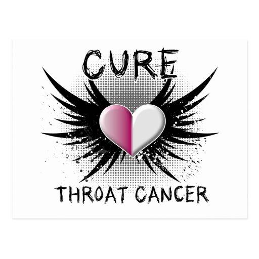 cure throat cancer postcard zazzle. Black Bedroom Furniture Sets. Home Design Ideas