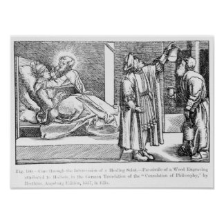 Cure through the Intercession of a Healing Poster
