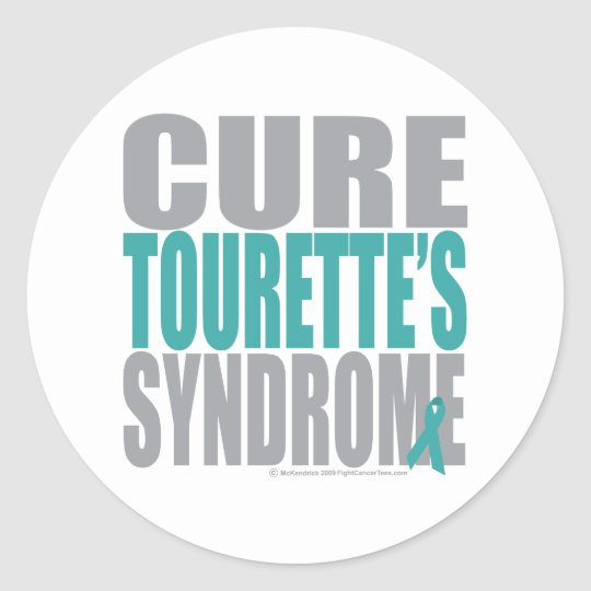 Cure Tourette's Syndrome Classic Round Sticker