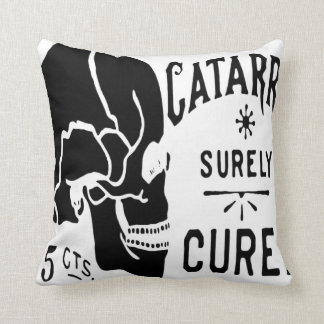 Cured Skull Vintage Label American MoJo Pillows