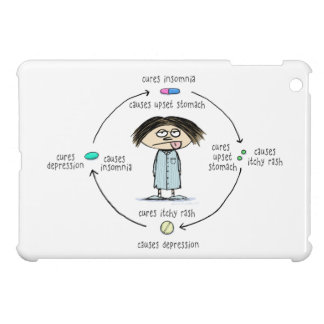Cures and Causes - The Circle of Medication iPad Mini Covers