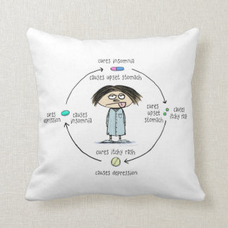 Cures and Causes (The Circle of Medication) Pillow