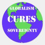 CuresSovereignty Etiquetas Redondas