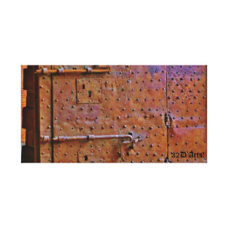 Curfew Gate, Detail, Lucca, Wrapped Canvas Print