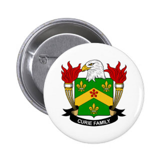 Curie Family Crest Pins