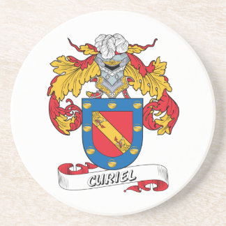 Curiel Family Crest Drink Coaster