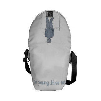 Curing ashes do not know with blue tea ever print messenger bag
