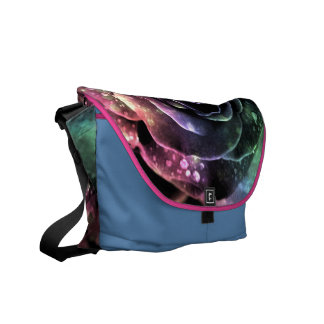 """Curing ashes """"multicolored rose """" courier bag"""