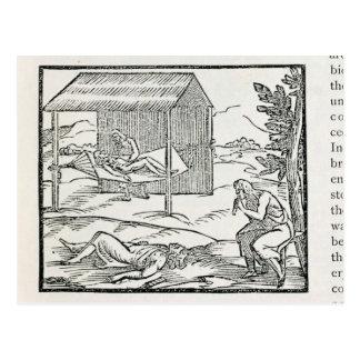 Curing the Sick, Natives of Hispaniola Postcard