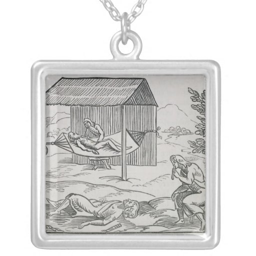 Curing the Sick Square Pendant Necklace