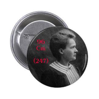 Curio de Marie Curie Pin Redondo De 2 Pulgadas