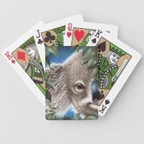 Curios Koala Bicycle Playing Cards