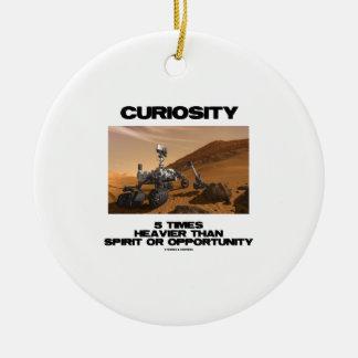 Curiosidad 5 veces más pesado que oportunidad del adorno navideño redondo de cerámica