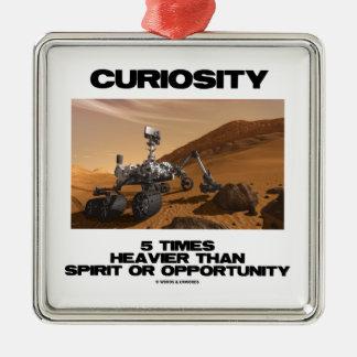 Curiosidad 5 veces más pesado que oportunidad del adorno cuadrado plateado