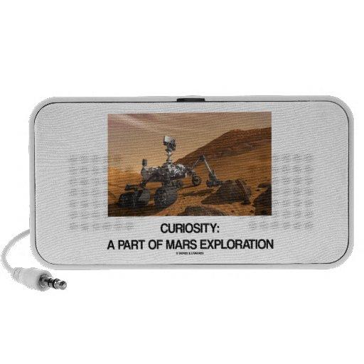 Curiosidad a la parte de exploración de Marte iPod Altavoces