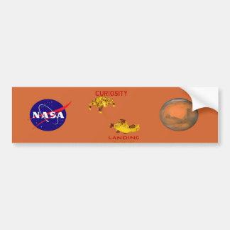 Curiosidad aterrizaje 6 de agosto, 3012 pegatina para auto