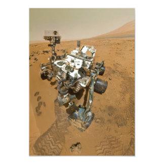"""Curiosidad de Marte Rover en Rocknest Invitación 5"""" X 7"""""""