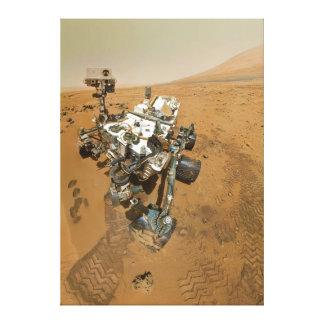 Curiosidad de Marte Rover en Rocknest Impresión En Lona