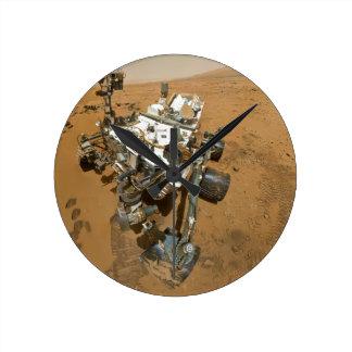 Curiosidad de Marte Rover en Rocknest Reloj Redondo Mediano