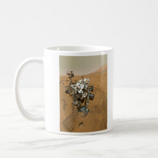 Curiosidad de Marte Rover en Rocknest Tazas De Café