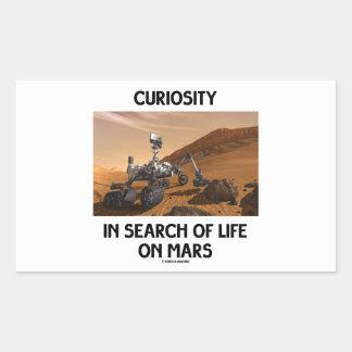 Curiosidad en busca de la vida en Marte Martian Rectangular Altavoz