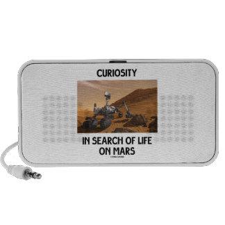 Curiosidad en busca de la vida en Marte Martian Ro Notebook Altavoz