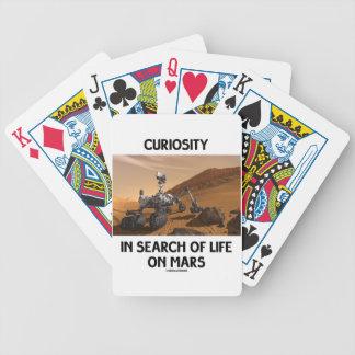 Curiosidad en busca de la vida en Marte Martian Ro Baraja De Cartas