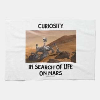 Curiosidad en busca de la vida en Marte Martian Ro Toallas De Mano
