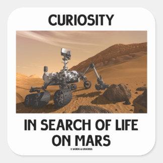 Curiosidad en busca de la vida en Marte Martian Ro Pegatinas