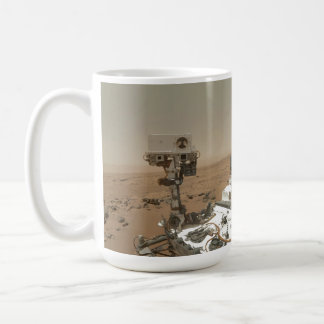 Curiosidad en Marte Taza Básica Blanca