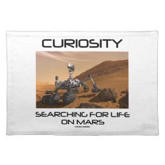 Curiosidad que busca para la vida en Marte (Marte Mantel