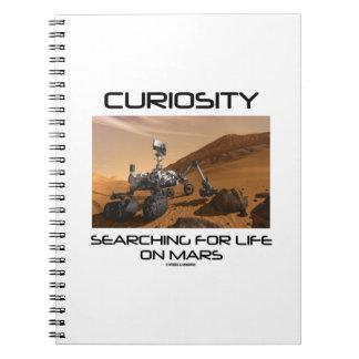 Curiosidad que busca para la vida en Marte (Marte Note Book