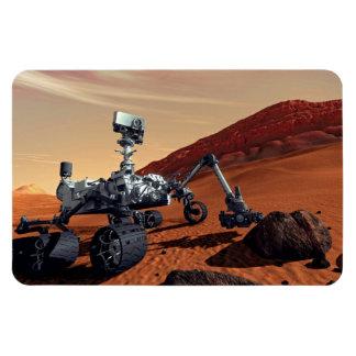 Curiosidad Rover de Marte Imán De Vinilo
