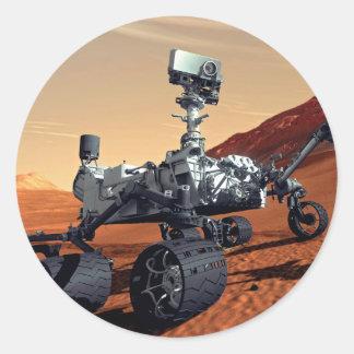 Curiosidad Rover de Marte Pegatina Redonda