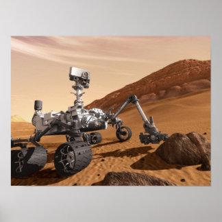 Curiosidad Rover de Marte Póster