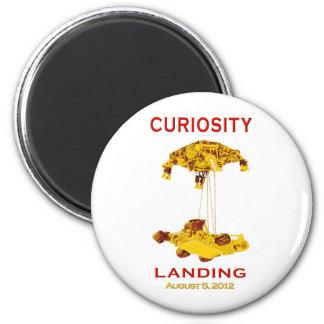 Curiosidad Rover que aterriza el logotipo del Imán Redondo 5 Cm