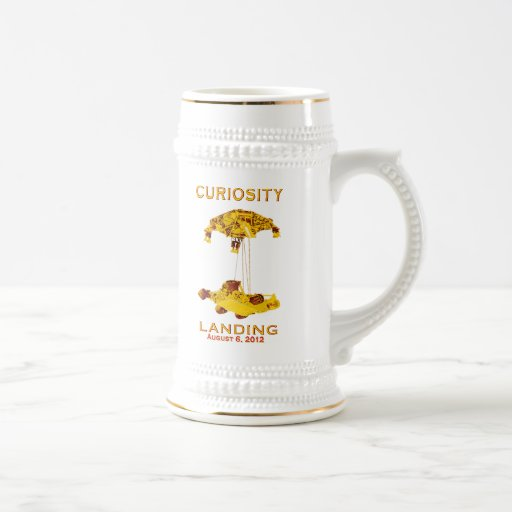 Curiosidad Rover que aterriza equipo (EDL) logotip Taza De Café