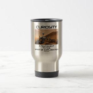 Curiosidad un testamento al alcohol de la explorac tazas de café