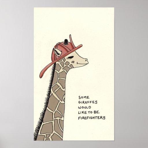 curiosidades de la jirafa póster